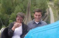 Couples get engaged in a roller coaster ride !