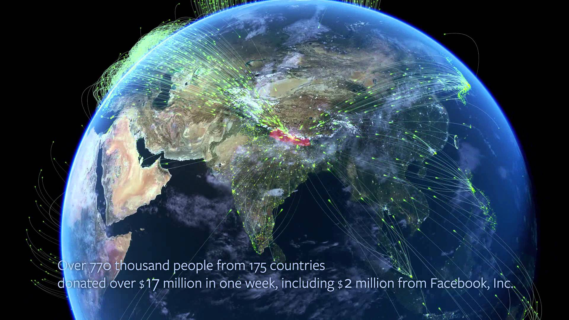 Visualizing how the connected world is healing Nepal