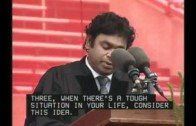 Inspiring acceptance talk by A R Rahman