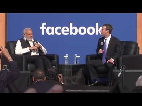 Q&A with Prime Minister Modi and Mark Zuckerberg at Facebook