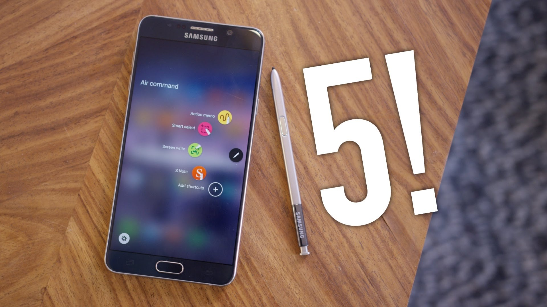 Review Samsung Galaxy Note 5 Out of the box