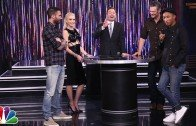 Jimmy plays Spin the Microphone with the stars of The Voice