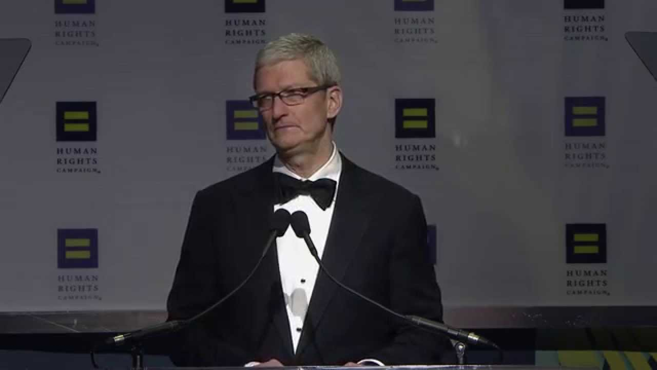 Tim Cook's Inspirational talk at HRC Visibility Award