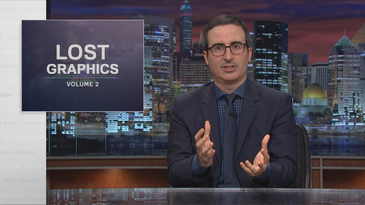 John Oliver on Lost Graphics