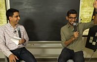 Sal Khan chats with Google CEO Sundar Pichai
