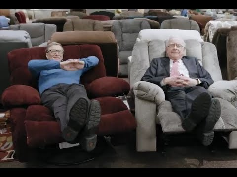 Bill Gates and Warren Buffet visit Nebraska furniture Mart