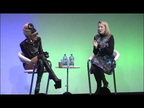 Lady Gaga at Google talk