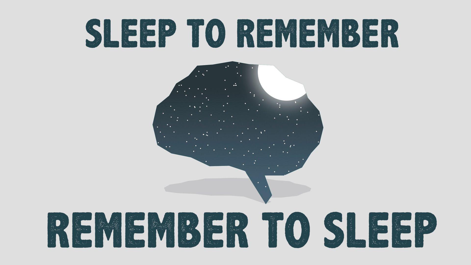 Remember to Sleep, Sleep to Remember!