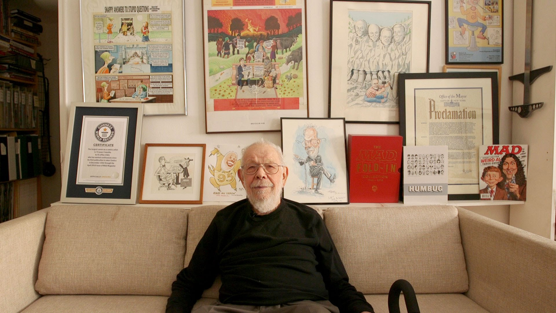 Al Jaffee, MAD Magazine's 95-Year-Old Journeyman Cartoonist