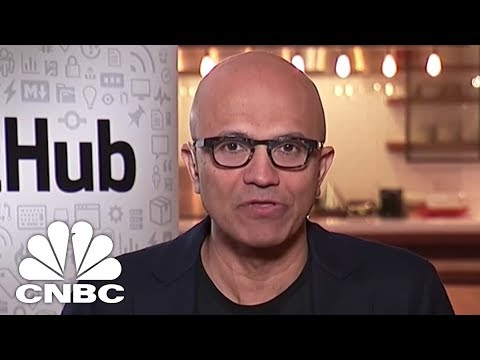 Satya Nadella Taalks Microsoft GitHub Acquisition